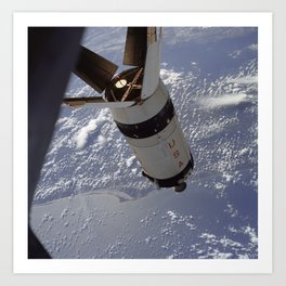 Apollo 7 - Saturn V over Cape Canaveral Art Print