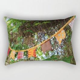 Flag garland in garden fiesta Rectangular Pillow