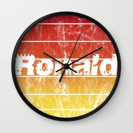 Name Ronald in sunset vintage sun Wall Clock