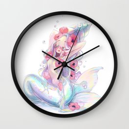 Sleepy Mermaid Wall Clock