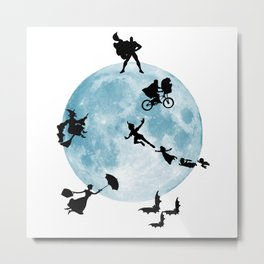 Busy Night At The Moon Metal Print