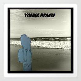 Young Beach Art Print