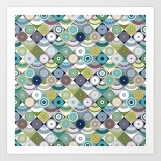 scales and pearls Art Print