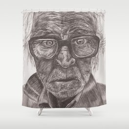 Heavy glasses Shower Curtain