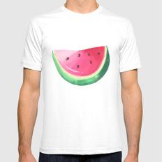 watermelon and strawberries  MEDIUM White Mens Fitted Tee