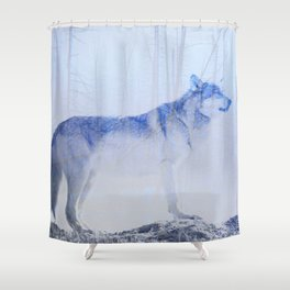 Exposed Wolf Shower Curtain