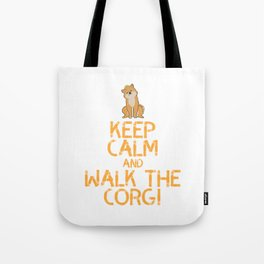 Dog Doglover Corgi dog cute pet funny gift fluffy birthday Tote Bag