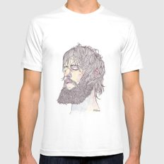 Ben Bridwell  MEDIUM Mens Fitted Tee White