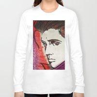 elvis presley Long Sleeve T-shirts featuring Elvis Presley by Art By Ariel Cruz