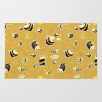 bee Area & Throw Rugs featuring Bee by tipa graphic