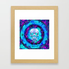 Circle On Fire Framed Art Print
