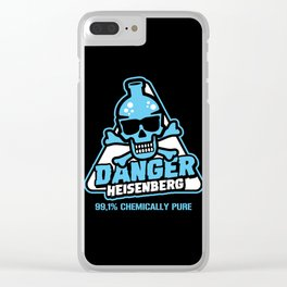 Danger - 99,01% chemically pure Clear iPhone Case