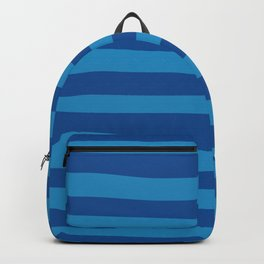 Dark Blue & Turquoise Stripes Pattern Backpack