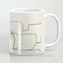 Minimal Hong Kong Subway Map Coffee Mug