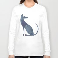 mid century Long Sleeve T-shirts featuring Mid-Century Canine by a. peterson