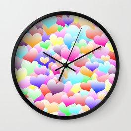 Bubble Hearts Light Wall Clock