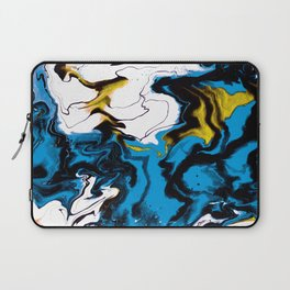 Dreamscape 01 in Blue, White & Gold Laptop Sleeve