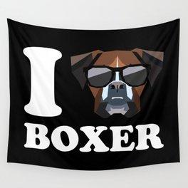 I Love Boxer modern v2 Wall Tapestry