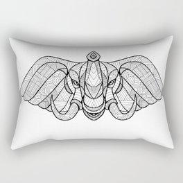 Elephant Head Front Zentagle Rectangular Pillow