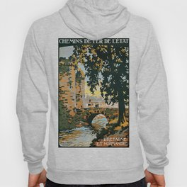 Bretagne et Normandie, French Travel Poster Hoody
