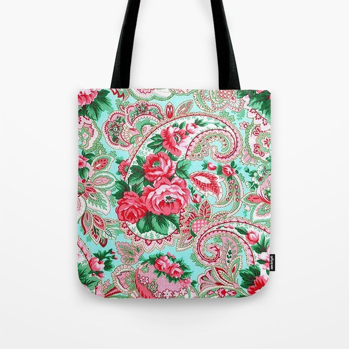 Floral Paisley Pattern 01 Tote Bag