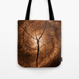 Cracked Wood Galaxy Tote Bag