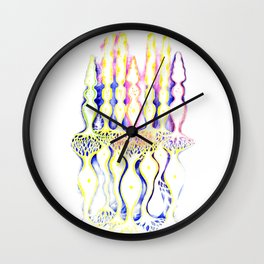 Rod cell cone cells and bipolar neurons inside the eye Wall Clock