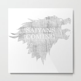 Saiyans Are Coming Metal Print