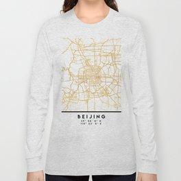 BEIJING CHINA CITY STREET MAP ART Long Sleeve T-shirt