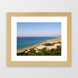 Golden Beach in Cyprus Framed Art Print