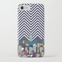 twin peaks iPhone & iPod Cases featuring Twin Peaks by Ale Giorgini