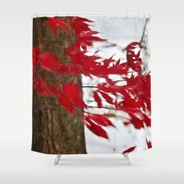 like a river of red Shower Curtain
