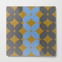 Retro Petal Pattern Tri-color #decor #society6 #buyart Metal Print