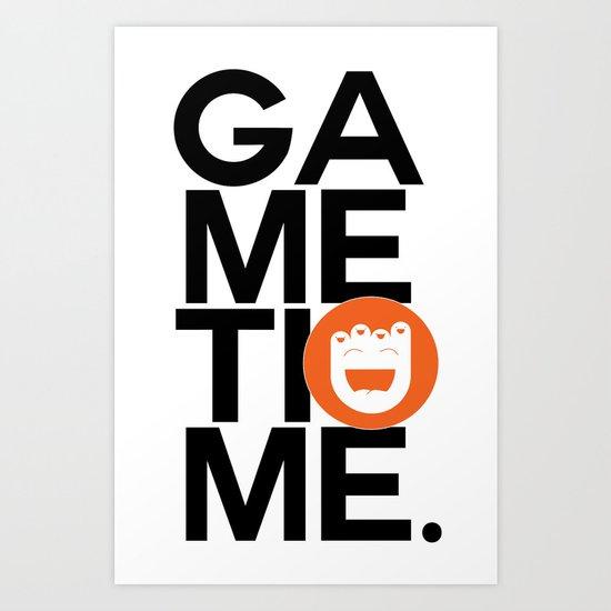 Gametime. Art Print