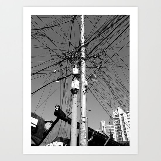 We're all connected Art Print