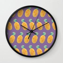 Pineapple Watercolor Wall Clock