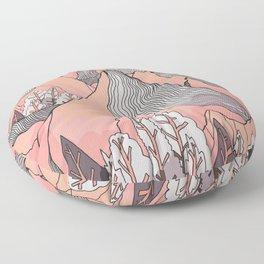 The pale orange lands Floor Pillow