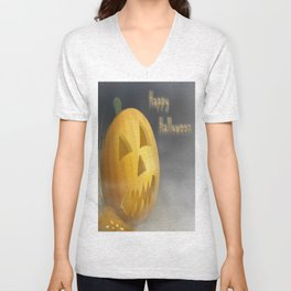 Happy Halloween Illustration Unisex V-Neck