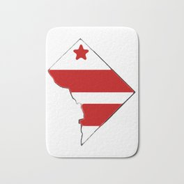 Washington DC District of Columbia Map with Flag Bath Mat