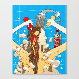 Saucy Shower Canvas Print