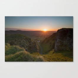 winnats pass sunrise Canvas Print