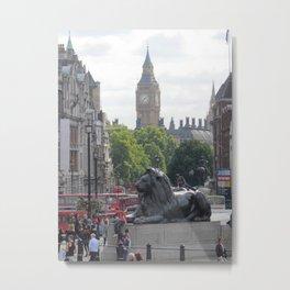Trafalgar To Big Ben Metal Print