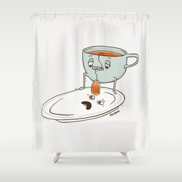 Tea Baggin' Shower Curtain