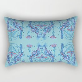 Hoatzin bird blue Rectangular Pillow