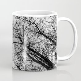 Creepy woods, black and white Coffee Mug