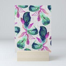 embroidered callas Mini Art Print