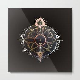 Saraswati Mandala Black Metal Print