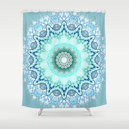 Snow Queen Mandala  Shower Curtain
