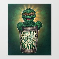 Don't Let The Sunshine Ruin Your Rain Canvas Print