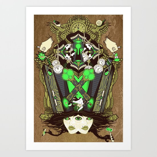 Molly Can't Make Up Her Mind Art Print